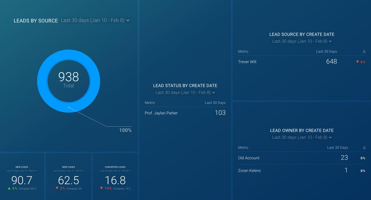 salesforce lead dashboard template
