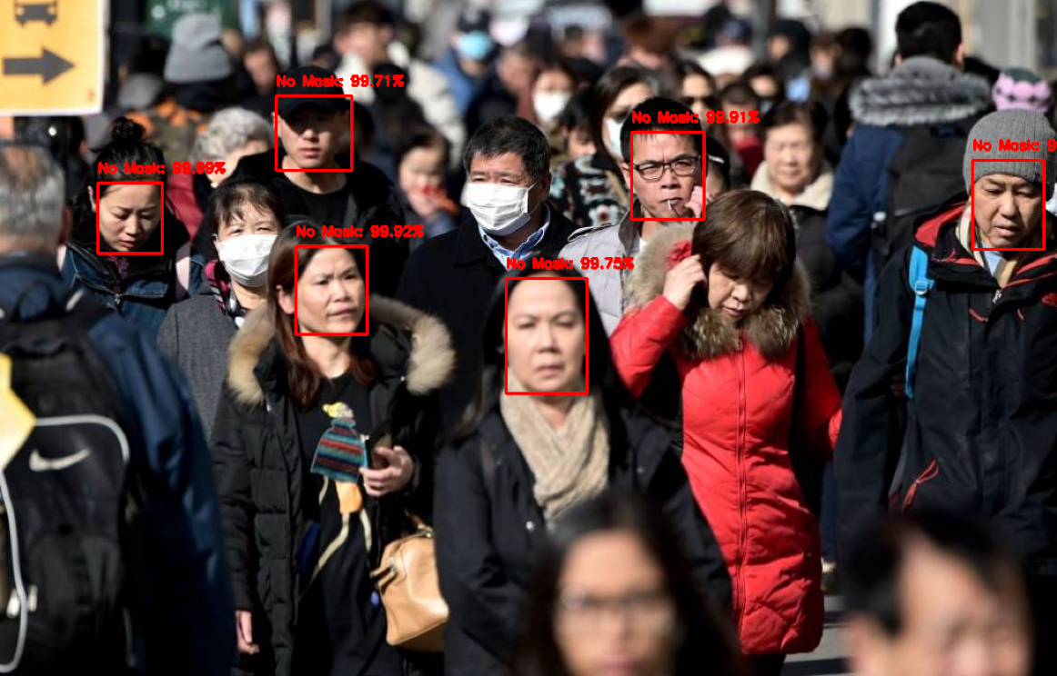 Face mask detection service