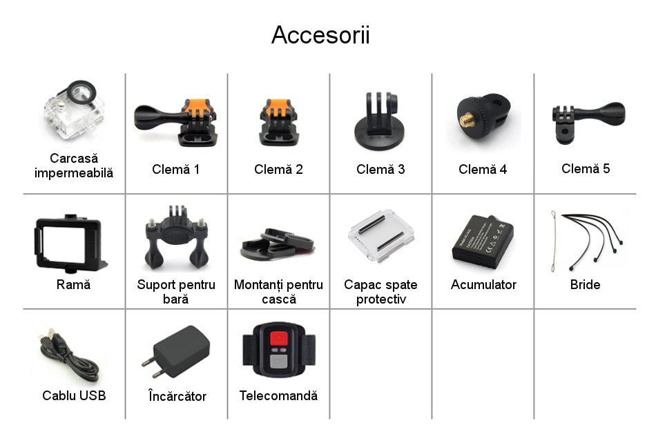Camera video sport EKEN H9 accesorii