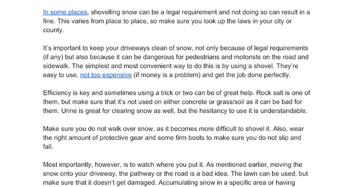 (Lawncare) The importance of snow removal and when to do it