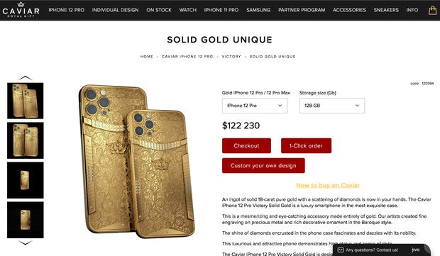 Phiên bản iPhone 12 Pro và Pro Max có giá từ 2,8 - 3,3 tỷ đồng, đúng là chỉ dành cho người giàu tiêu tiền! - Ảnh 1.