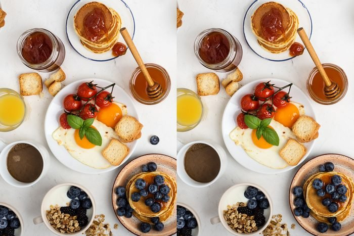 Spot the difference: Breakfast Fit For a King