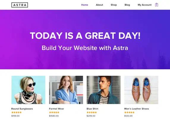 Tema WordPress Terbaik : Astra