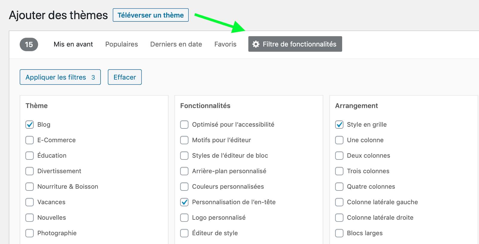 Wordpress-themes-filtre