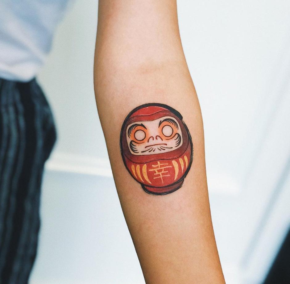 Daruma doll tattoo design