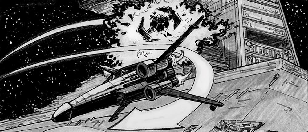 xwing story board drawing