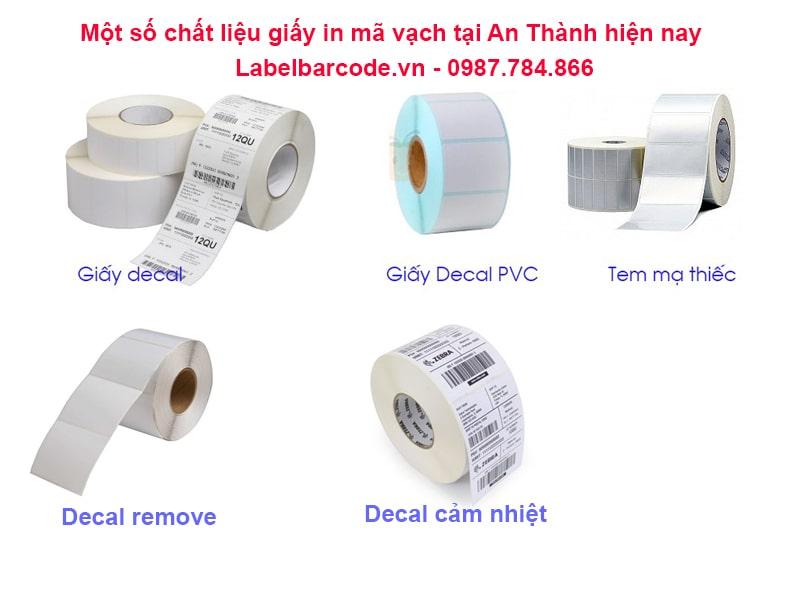 Đa dạng chất liệu của giấy in mã vạch 4 tem có tại An Thành