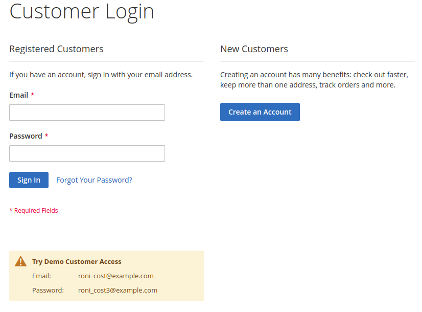 How to Add Text to Login Page in Magento 2 | Mageworx Blog