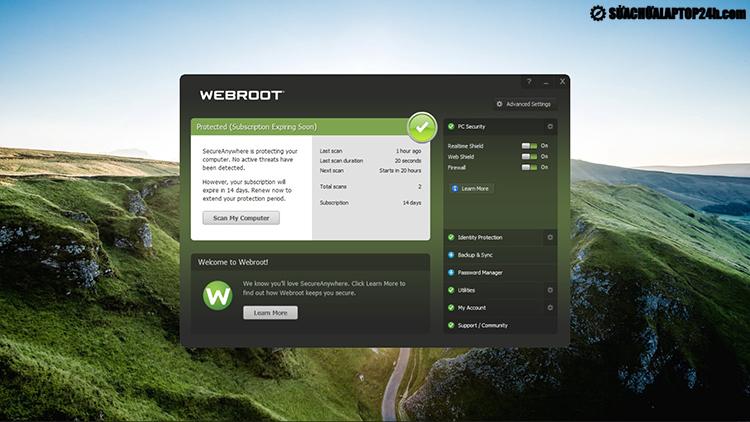 """Webroot SecureAnywhere AntiVirus - """"nhỏ mà có võ"""""""