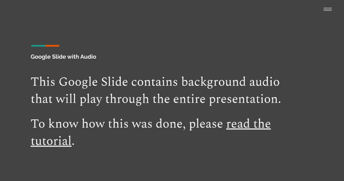 google slides with background audio google slides