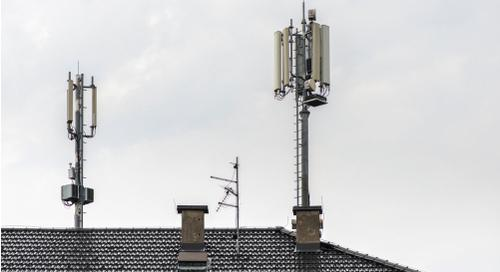 Antennas on top of a house