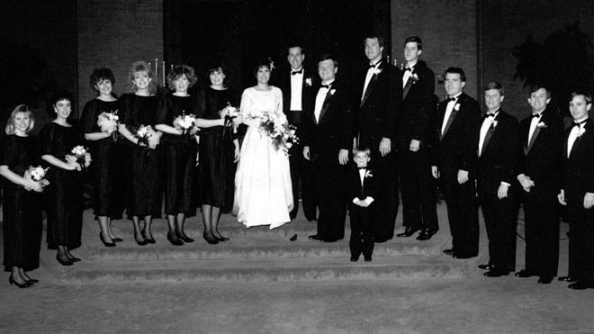 Sheila's wedding in 1988