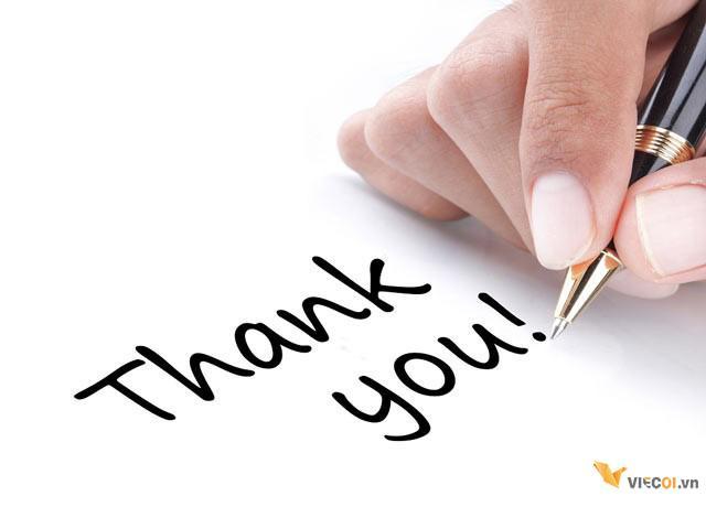 viết thư cảm ơn sau phỏng vấn
