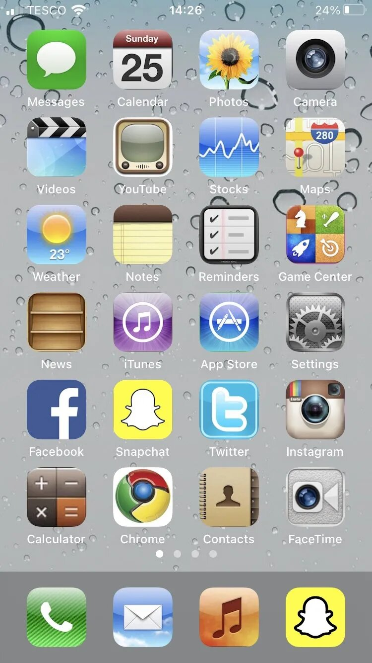 An old school iPhone theme for your inspiration