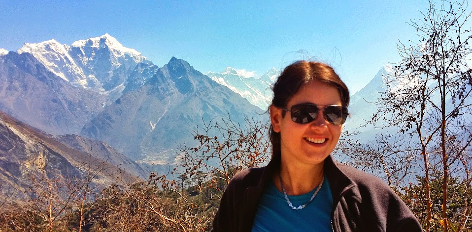 Me and Mount Everest during my Everest base camp Trek