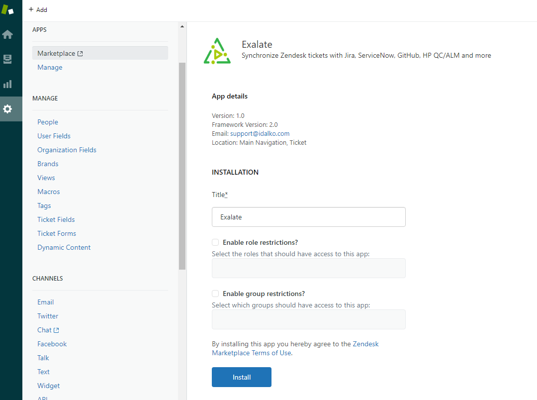 Exalate for zendesk servicenow integration