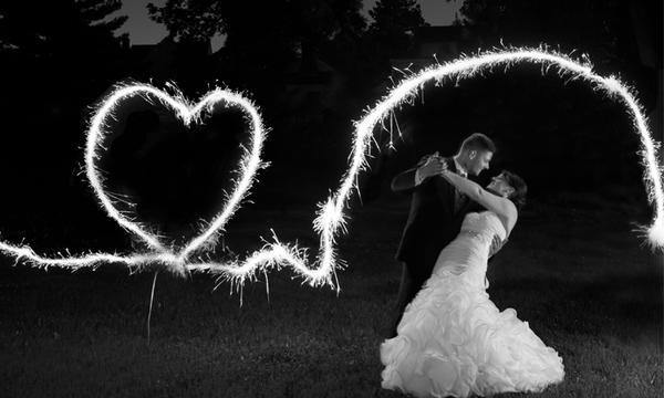 Action Writing with Wedding Sparklers