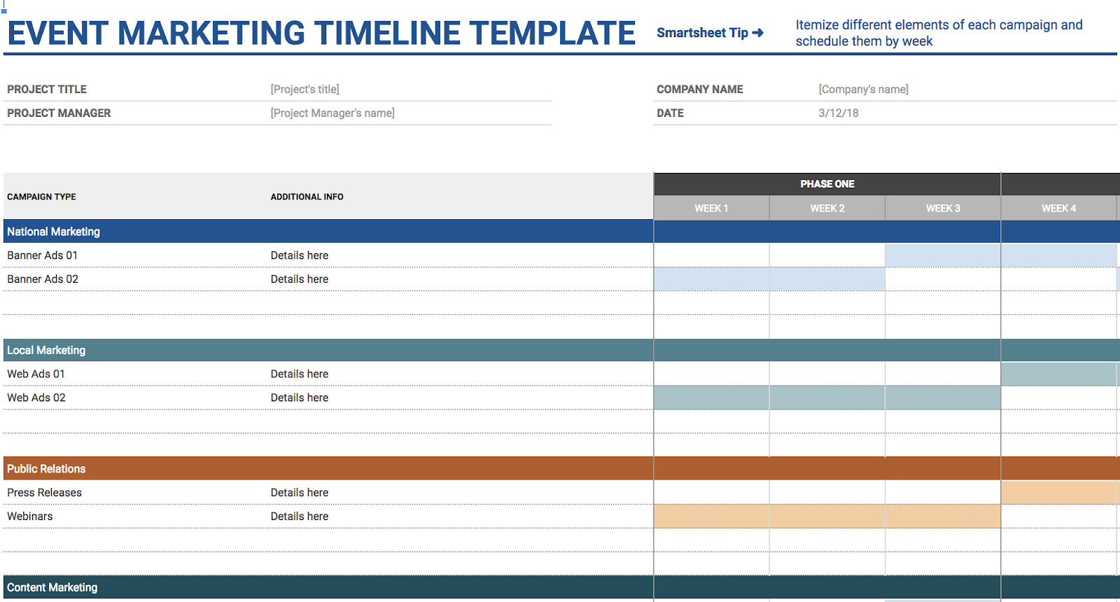 The Template Is Already Organized With All Necessary Categories For Planning An Event Reducing Time You Spend On Tedious Manual Input