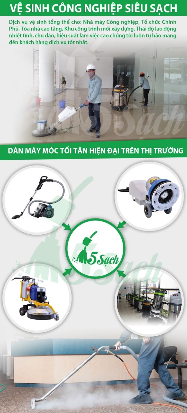 công ty vệ sinh công nghiệp 5 sạch