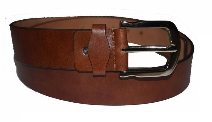 Casual brown wide leather belt - Lusso Leather - 1