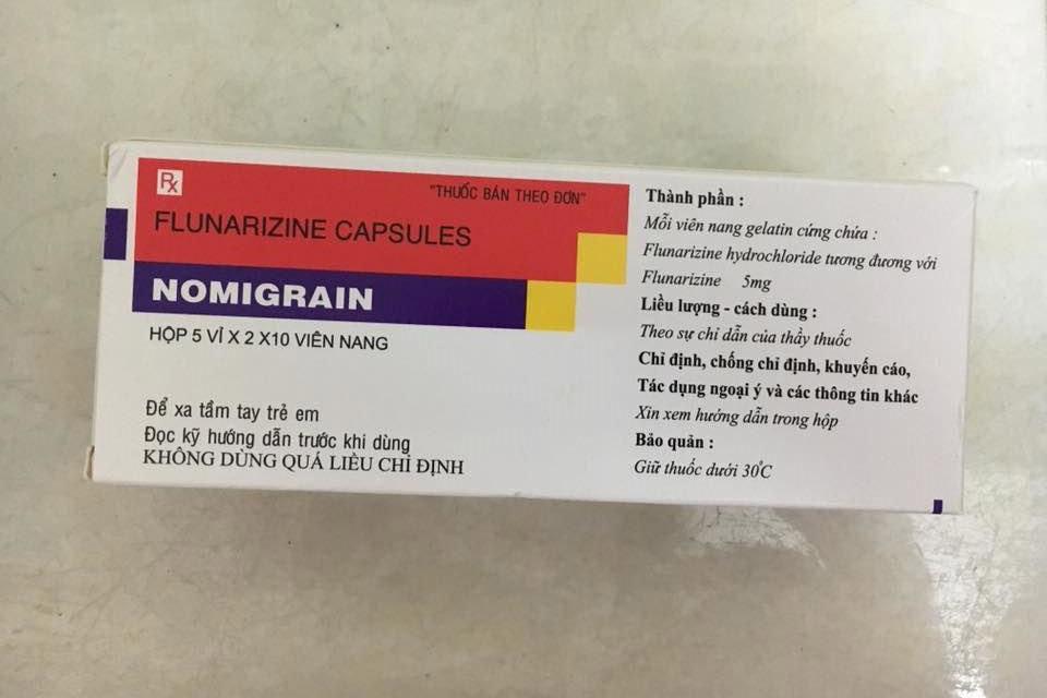 Thuốc điều trị đau nửa đầu Nomigrain