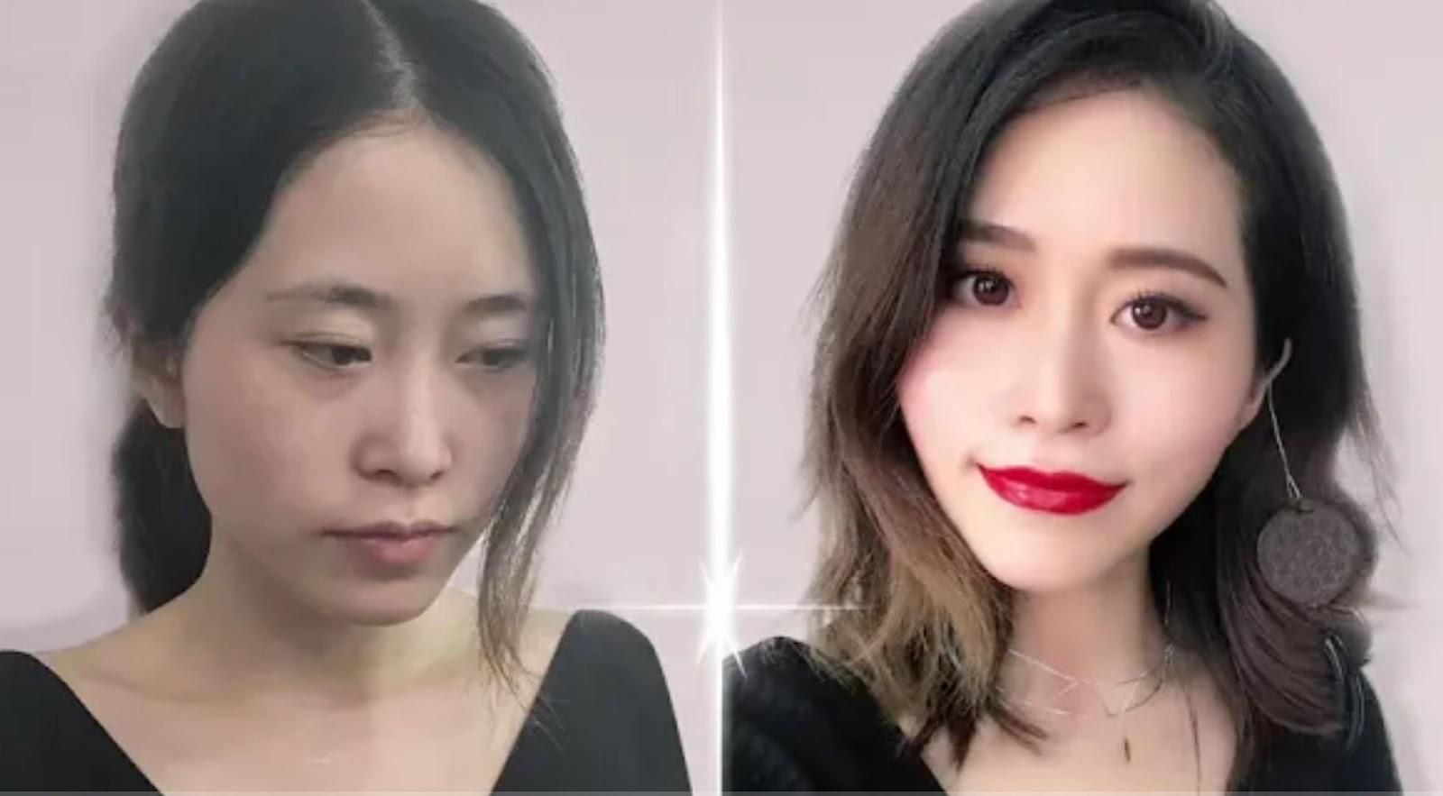 makeup with food