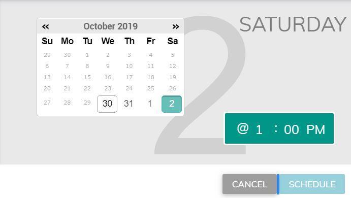 social post editor scheduler