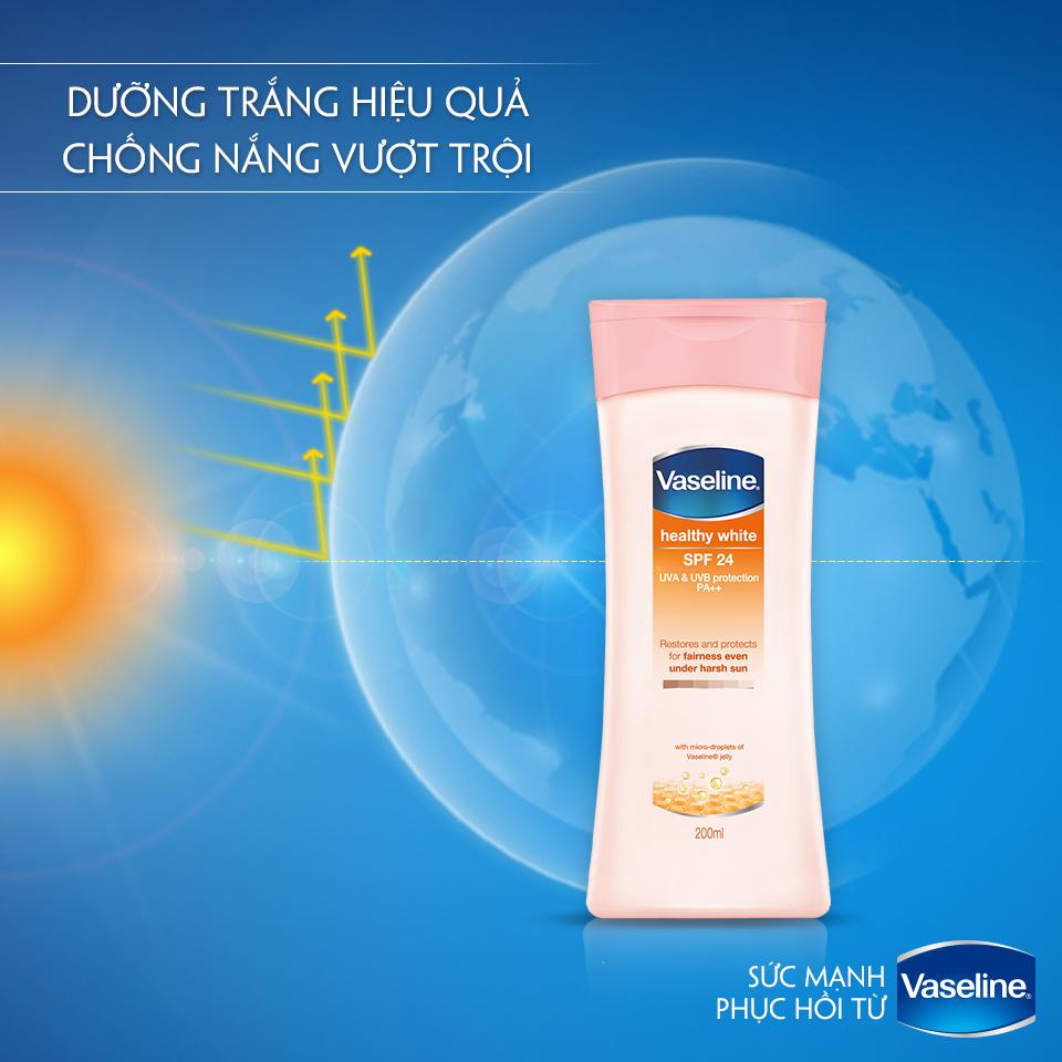 kem dưỡng trắng da toàn thân Vaseline Healthy White SPF 24 PA++