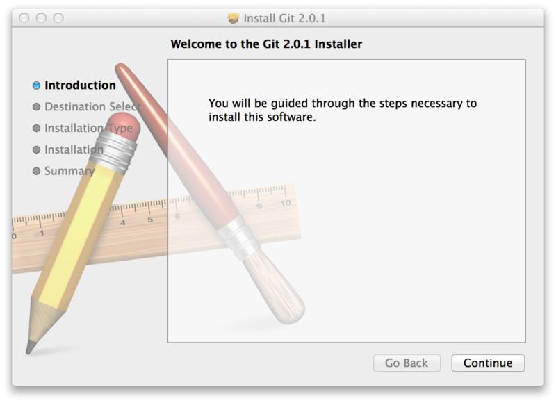 Git macOS installer.