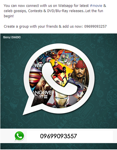 How Sony DADC India Used WhatsApp to Engage with its Audience (by @_