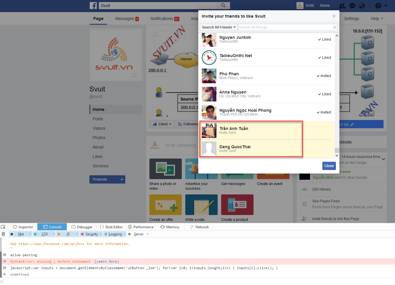 Auto Invite All Friends For Page Like(3)