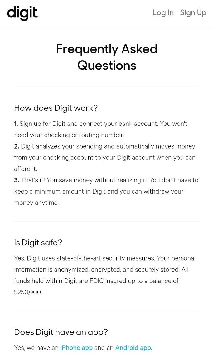 FAQ's for Digit