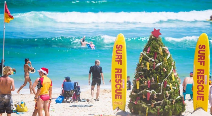 Christmas Day on the Beach