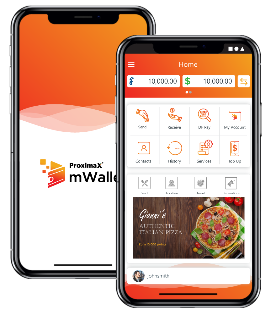 mWallet mobile app