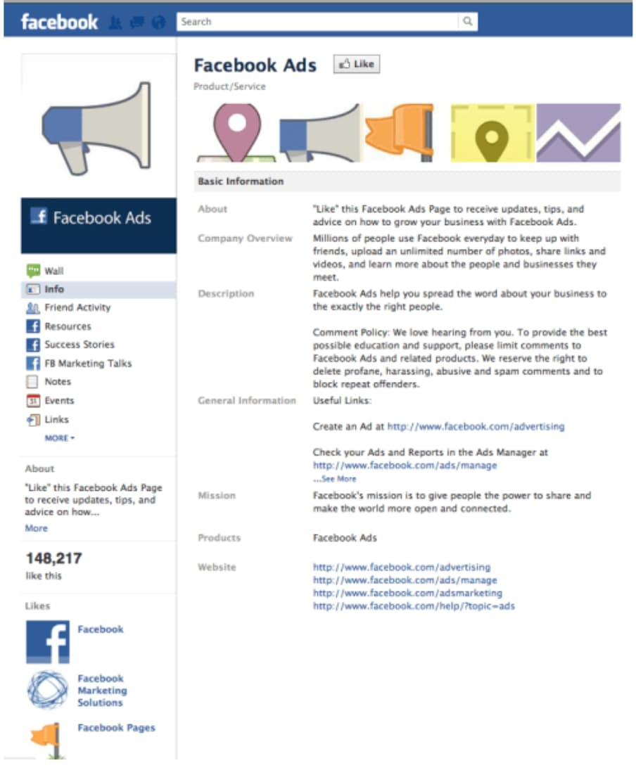 The history of Facebook Ads 2007