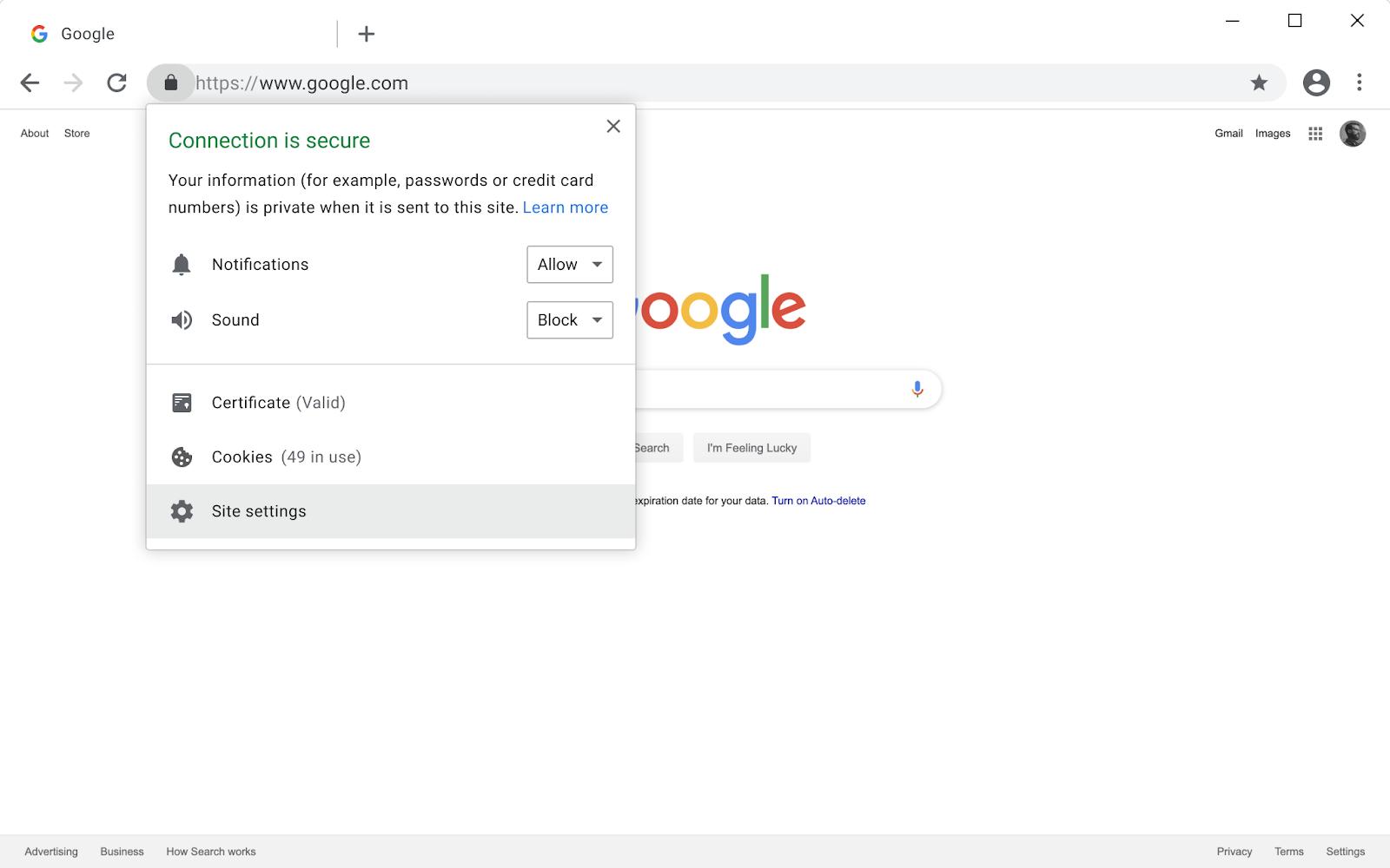 как отключить в Chrome блокировку смешанного небезопасного контента