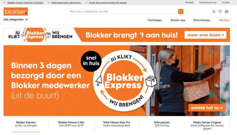 blokker express thuisbezorging