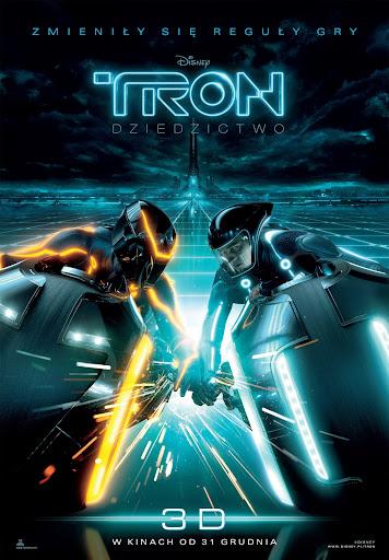 Przód ulotki filmu 'TRON: Dziedzictwo'