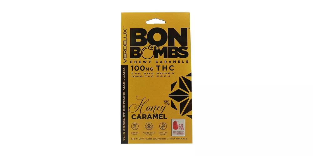 The best fall treats - Caramel Honey Bon Bombs. Available at Tacoma dispensary World of Weed.