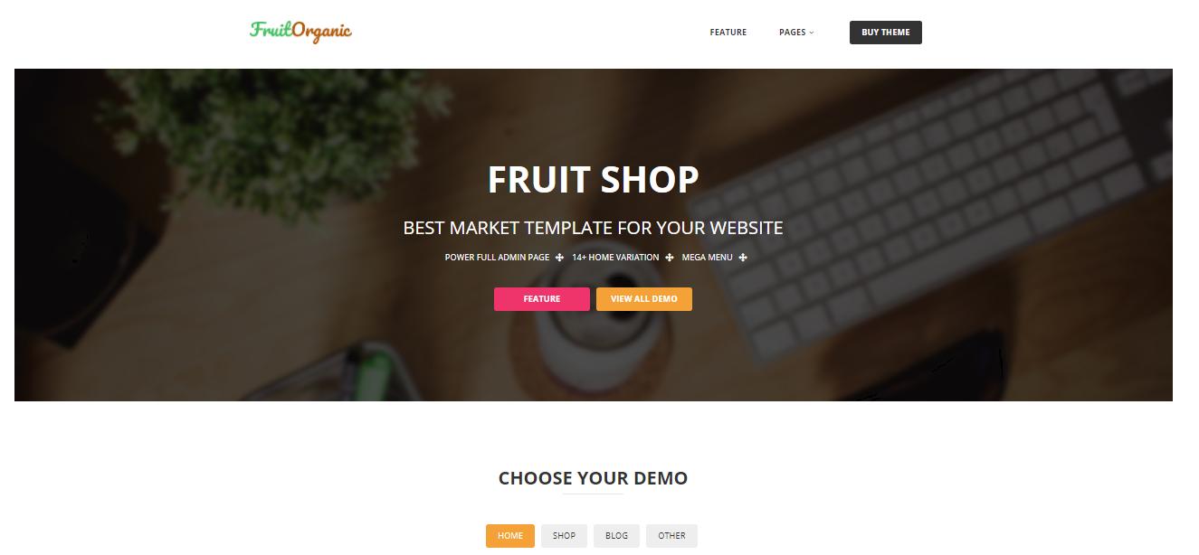 Fruitshop- organic Magento themes