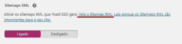 Sitemap XML no Yoast SEO