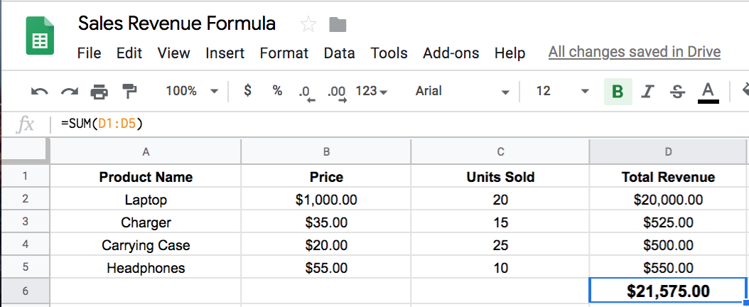 How to Use Google Sheets to Figure Out Sales Revenue Step 4.2 | The Easiest Way to Figure Out Your Sales Revenue