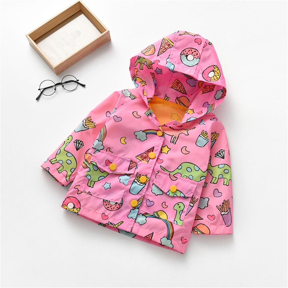 Toddler Girl Fantasy World Long Sleeve Hooded Jacket