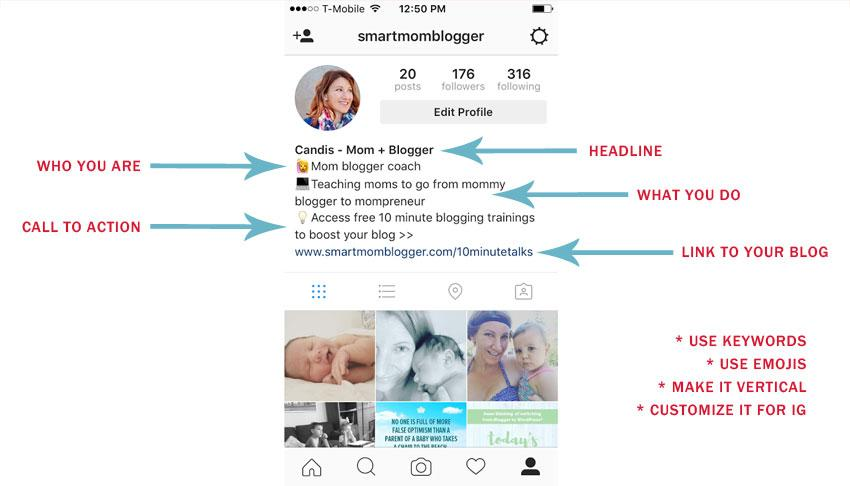 instagram profile template
