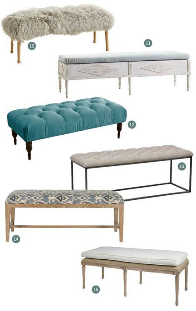 Đôn đuôi giường - Sản phẩm nên có trong phòng ngủ