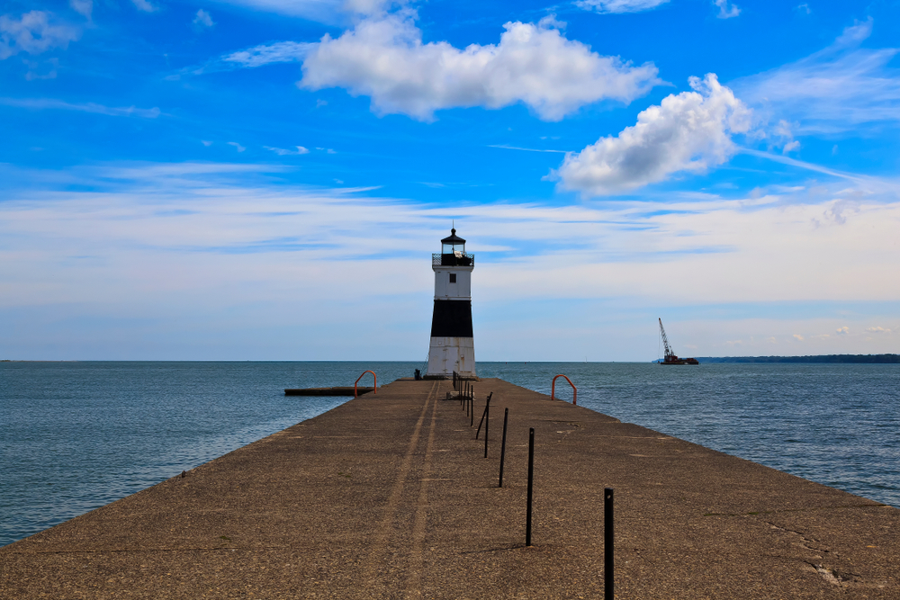 Erie Harbor North Pier Lighthouse