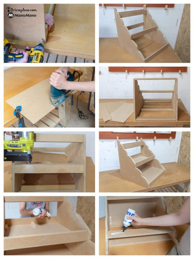 assemble the Montessori method bookcase