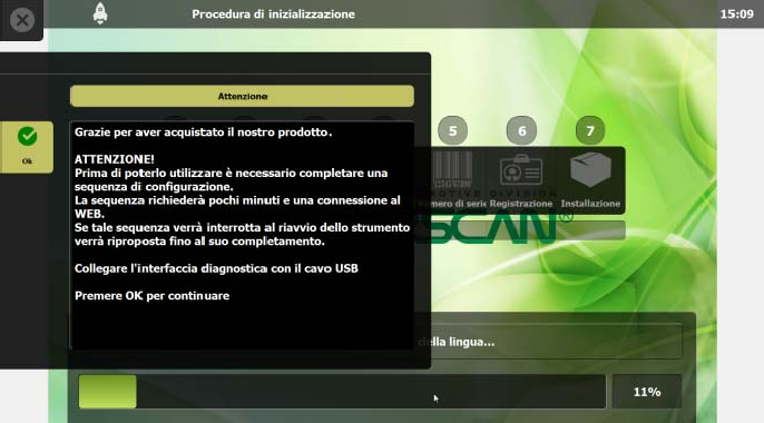 Confirm with OK and follow the instructions that appear on the MOTORSCAN monitor - ANSED Diagnostic Solutions