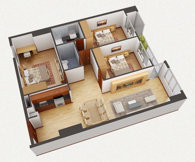 căn 3 phòng ngủ hh2b linh đàm