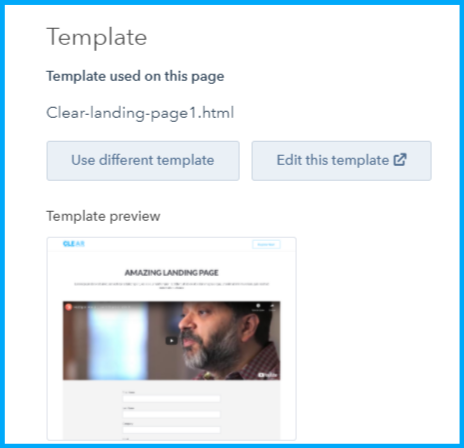 Template Swap in Landing and Website Pages